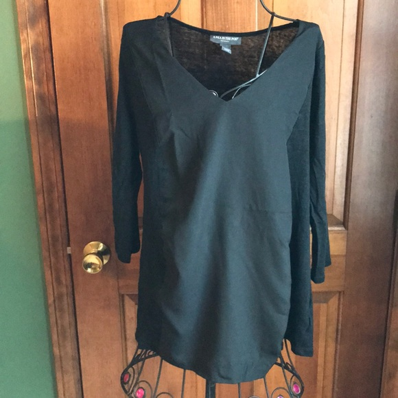 A Pea in the Pod Tops - A Pea in The Pod Black Maternity Shirt Medium